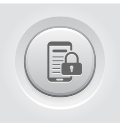 Mobile Security Icon vector image