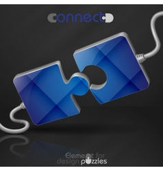 Modern Puzzle Template vector image