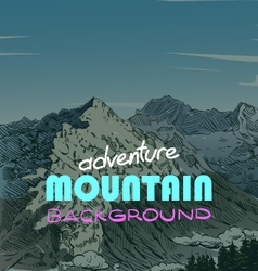 Mountain backgrounds vector image