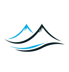 Mountains with steep peaks logo vector