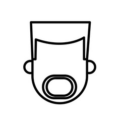 outlined bearded character man male vector image