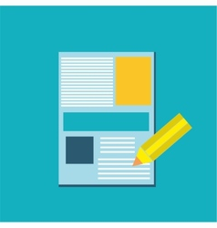 Pen and paper icon vector image