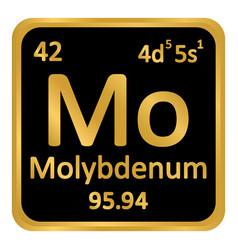 Periodic table element molybdenum icon vector