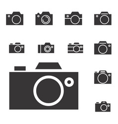 Photo camera icon or snapshot sign vector