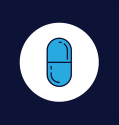 pills icon sign symbol vector image