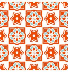 portuguese azulejo tiles seamless patterns vector image