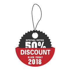 price tag special offer 50 discount black friday vector image