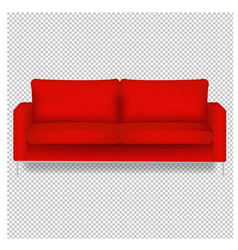 red sofa isolated transparent background vector image