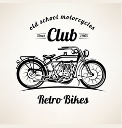 retro motorbike emblems and labels template vector image
