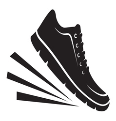 Running shoes icon1 resize vector image