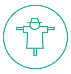 Scarecrow line icon vector image