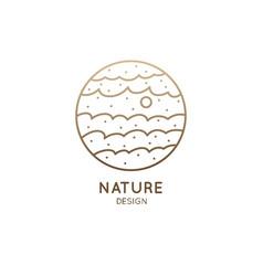 Sea landscape logo vector