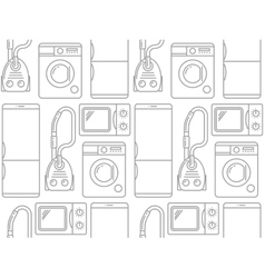 seamless pattern household electronics vector image