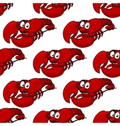 Seamless pattern of a fresh lobster vector image