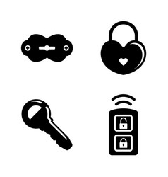 security keys lock simple related icons vector image