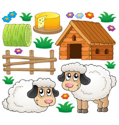 sheep theme collection 1 vector image