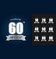 Silver anniversary celebration emblem vector
