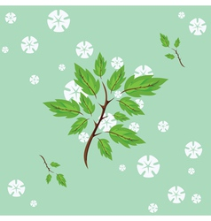 spring flowering vector image