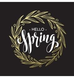 Spring handwritten calligraphy vector image