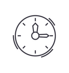 Timeclock line icon sign on vector