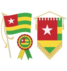 Togo flags vector