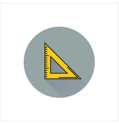triangle ruler icon on white background vector image
