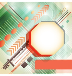 Ttechno background vector image