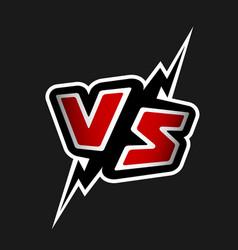 versus letters vs logo vector image