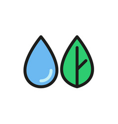 Water leaf icon on white background vector