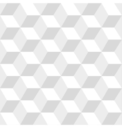 White cubes seamless pattern vector