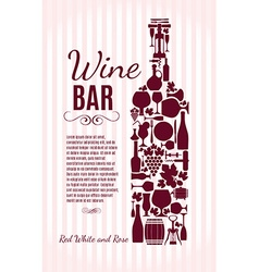 Wine menu background stock Card menu vector