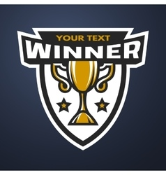 Winner Sports trophy logo vector