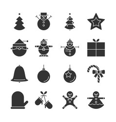 christmas party and happy new year icon vector image vector image