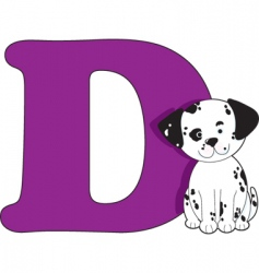 d is for dog vector image vector image
