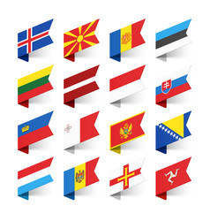 flags of the world europe set 3 vector image vector image