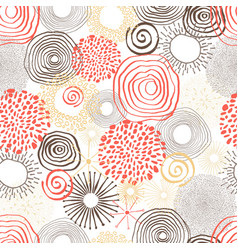 inky circles in seamless pattern vector image vector image
