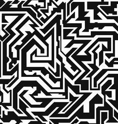 Monochrome tribal seamless pattern vector