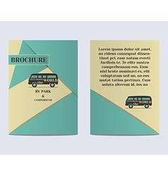 Travel Brochure Flyer design Layout template Rv vector image vector image