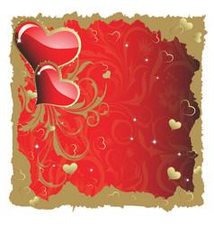 Valentine's hearts vector image