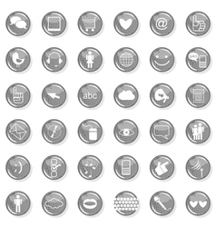 Web multi button set vector image vector image