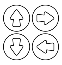 Arrow set icon outline style vector image