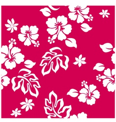 seamless hibiscus vector image vector image
