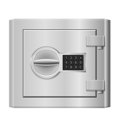 steel safe on white for design vector image vector image
