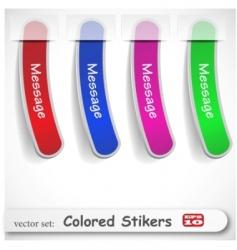 sticker set vector image vector image
