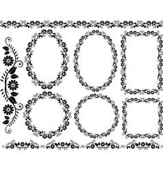 floral frames vector image vector image