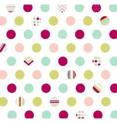 polka dot fabric wallpaper vector image