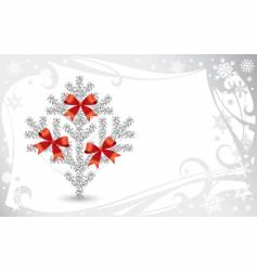 silver Christmas card vector image