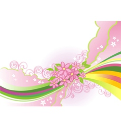 abstract flower background layers are separated vector image