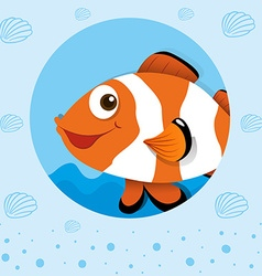 Clownfish with happy face vector image