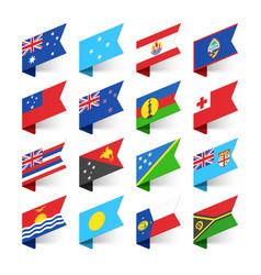 flags of the world oceania vector image